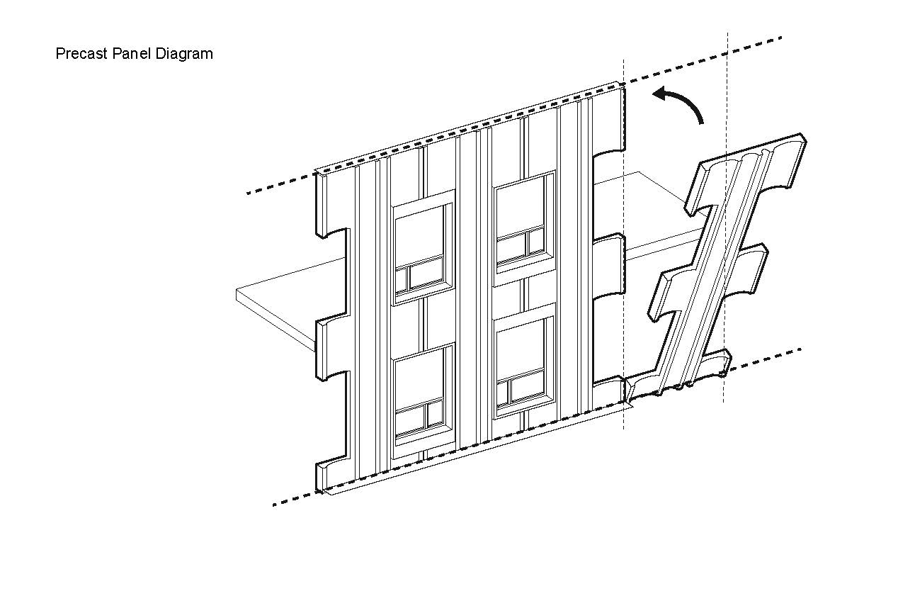 Precast Facade Diagram }