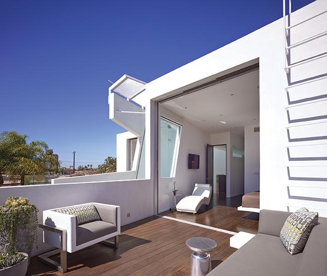 Master bedroom roof deck