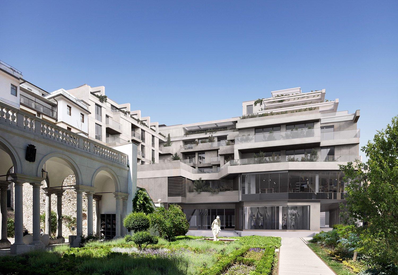 Vista da corte di Palazzo Morpurgo Archest