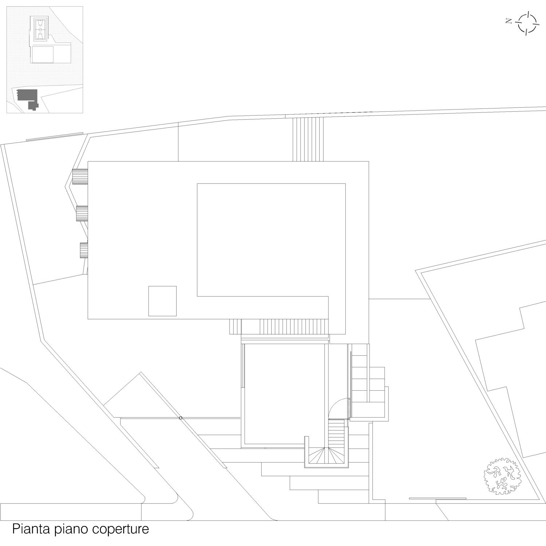 Corpo A - Pianta piano coperture Giuseppe Todaro Architect}