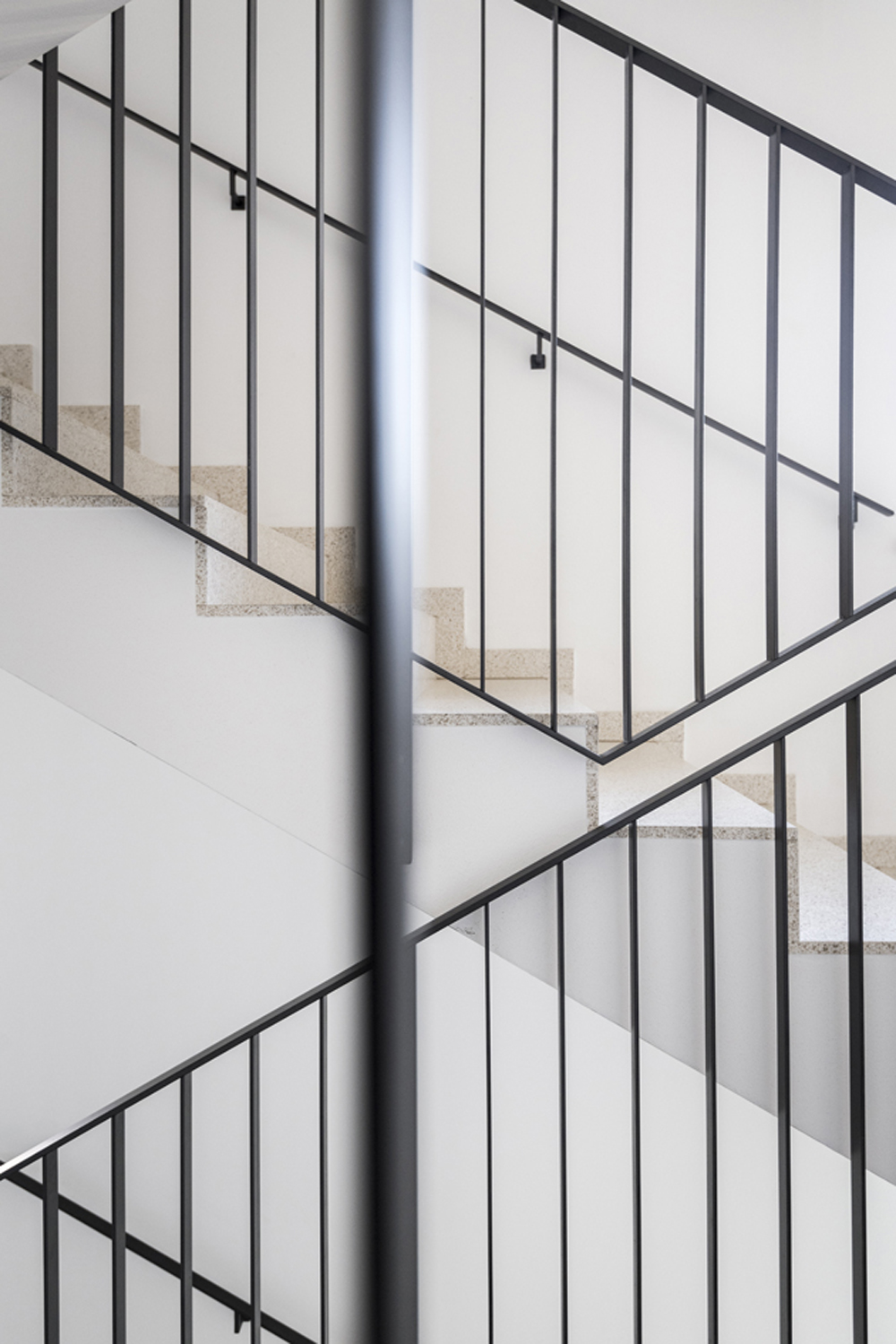 Indoor stair of the building