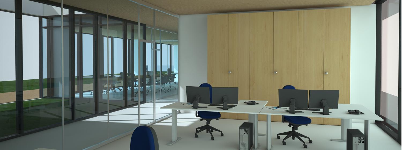 vista interna degli uffici Andrea Belletti per M.M.B. s.r.l.