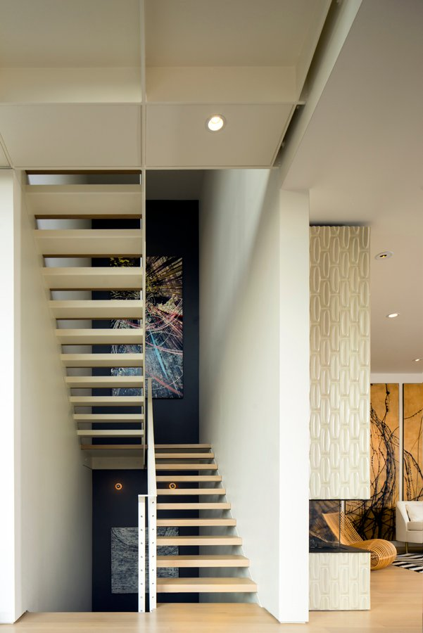 Entry view of Interior stair, under catwalk