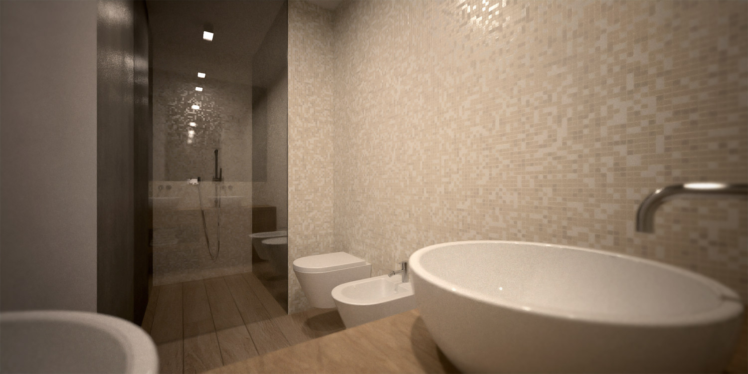 Concept Rendering - Bathroom }