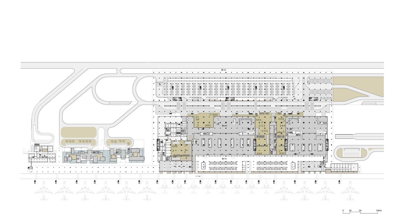 Çukurova Regional Airport Complex - Ground Floor Plan }