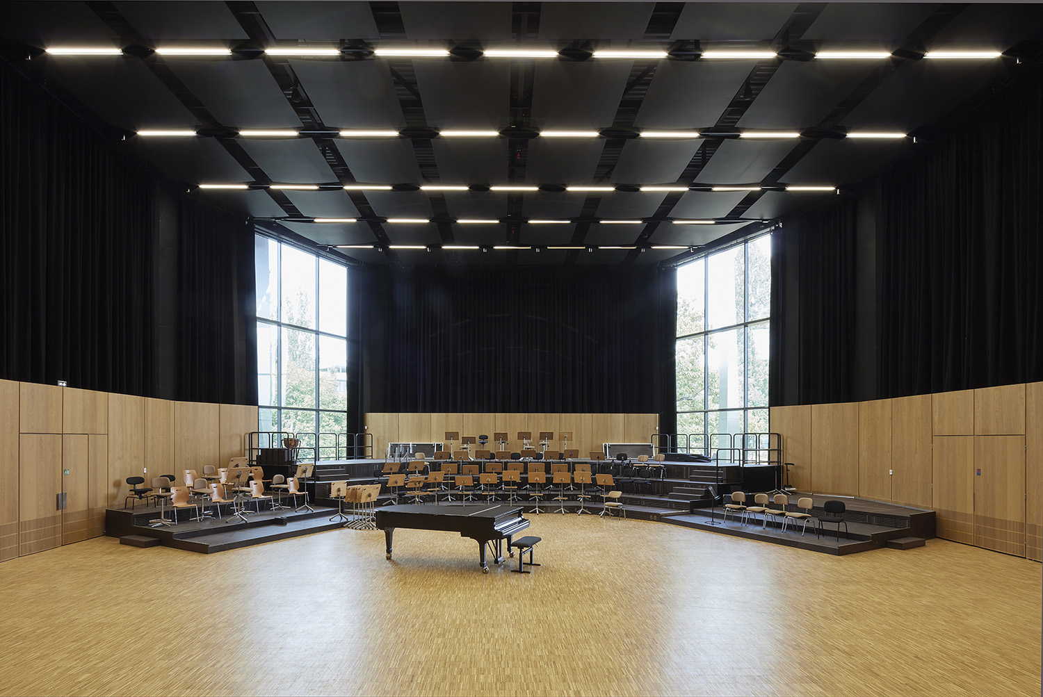 Rehearsal room of the Strasbourg Philharmonic orchestra
