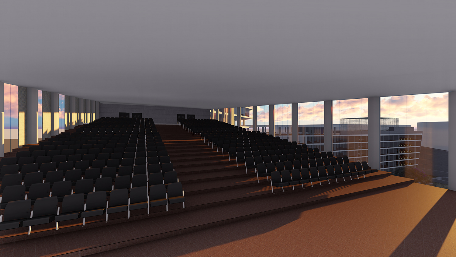 Perspective view of the auditorium
