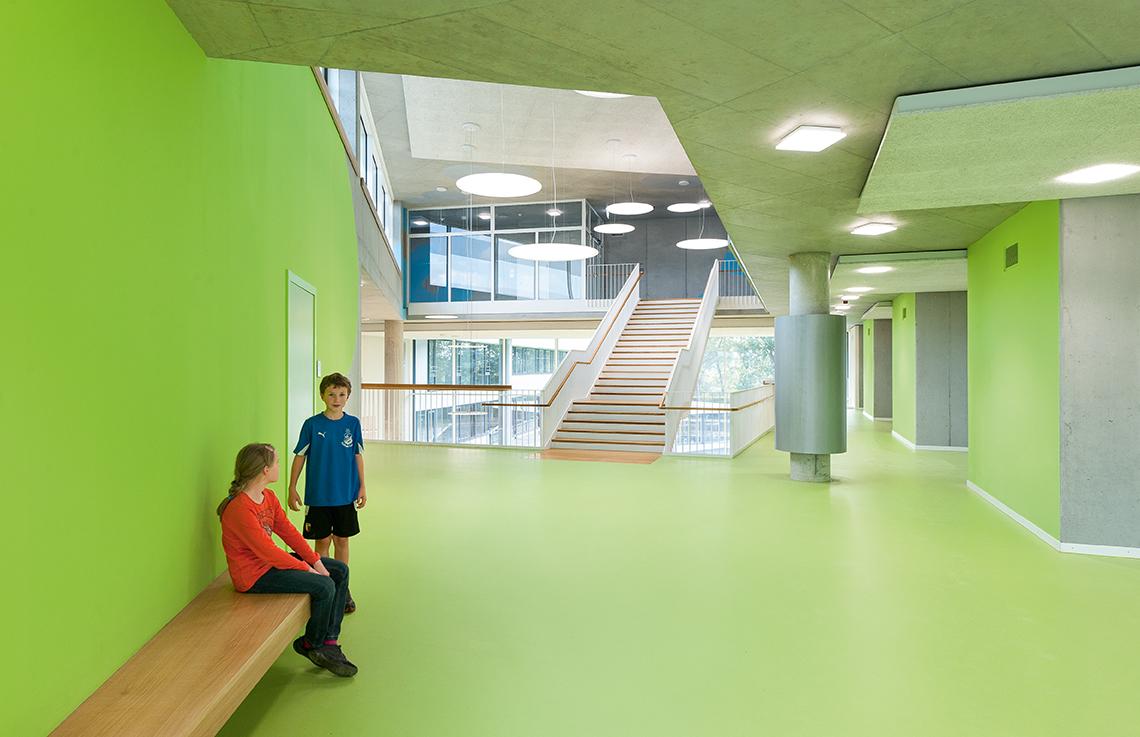Green level, second floor