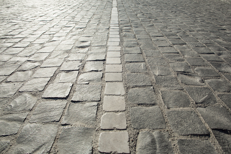 Dettaglio pavimentazione strada interna