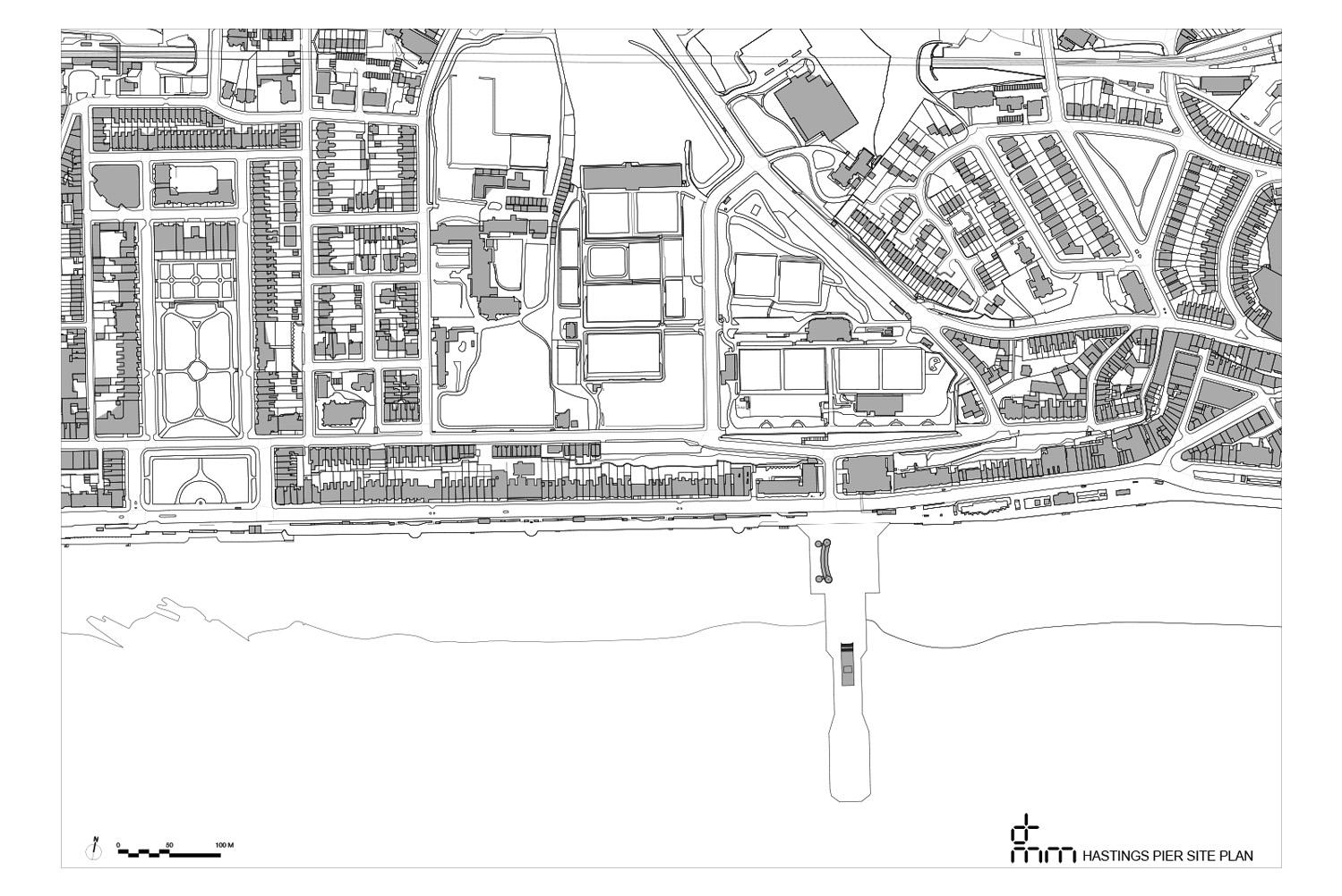 Hastings Pier Site Plan }