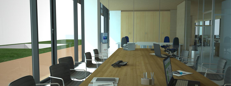 vista interna di una sala riunioni Andrea Belletti per M.M.B. s.r.l.