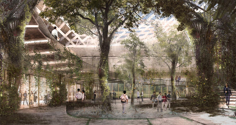 Vista della piazza serra centrale