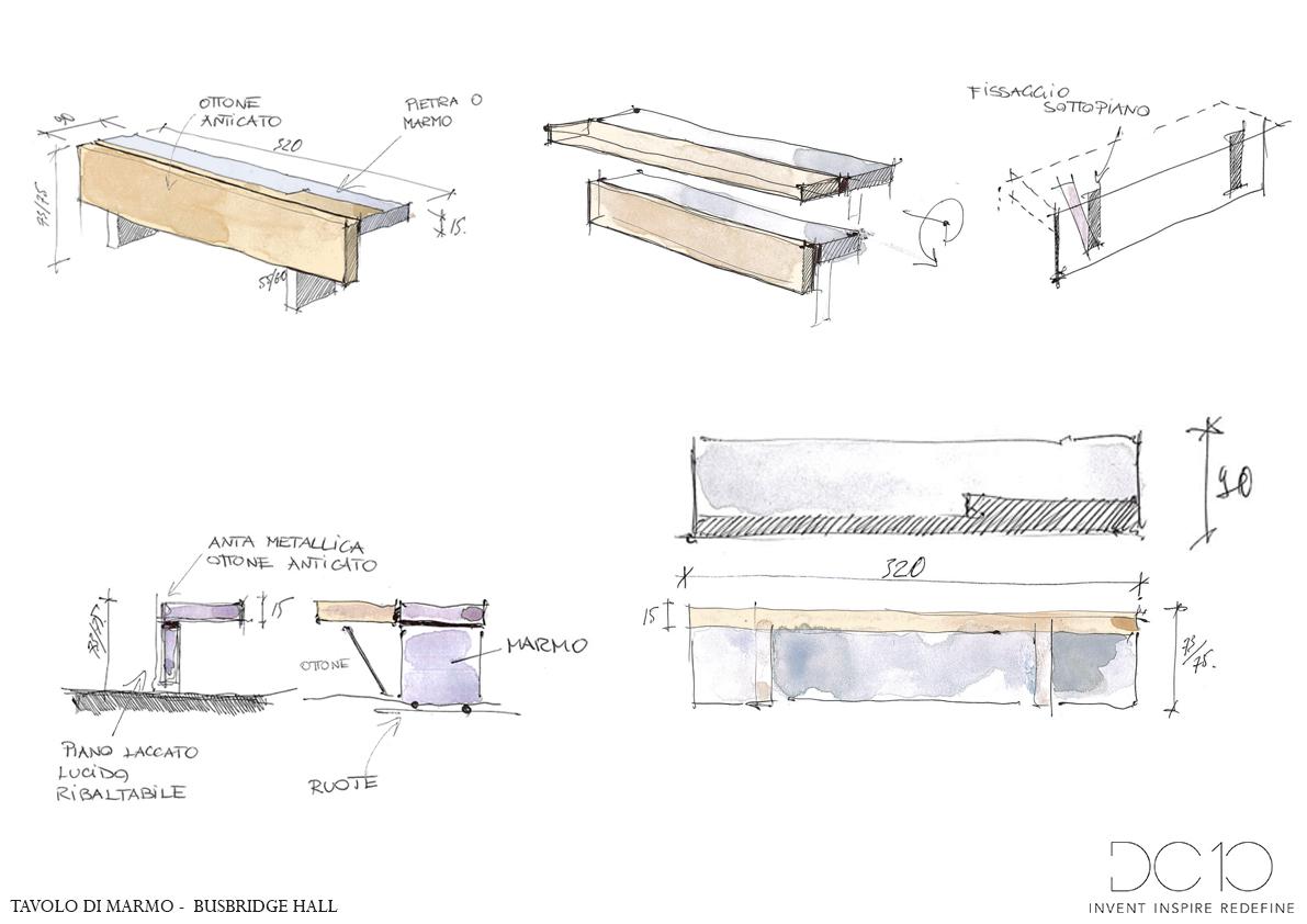 Tavolo di marmo Alessia Garibaldi}