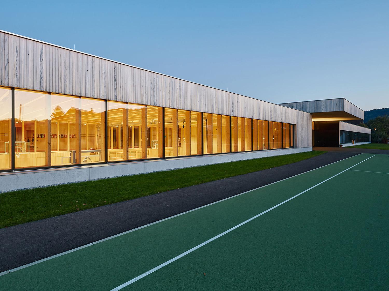 School Unterdorf_exterior view gym Bruno Klomfar