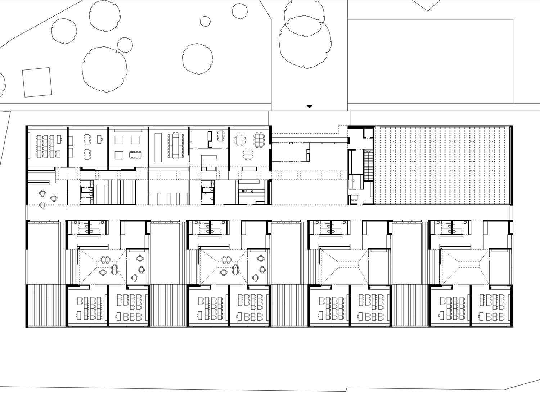 School Unterdorf_ground floor  Dietrich | Untertrifaller Architekten}