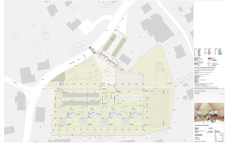 School Unterdorf_site area Dietrich | Untertrifaller Architekten}