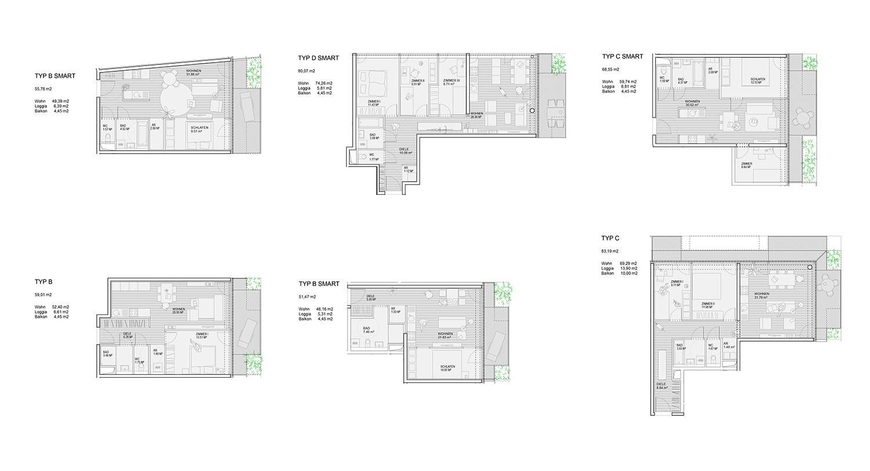 IDW Süd_apartment types Dietrich | Untertrifaller Architekten}