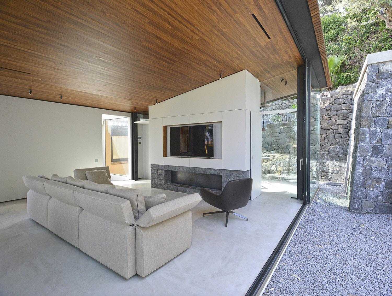Area soggiorno su giardino