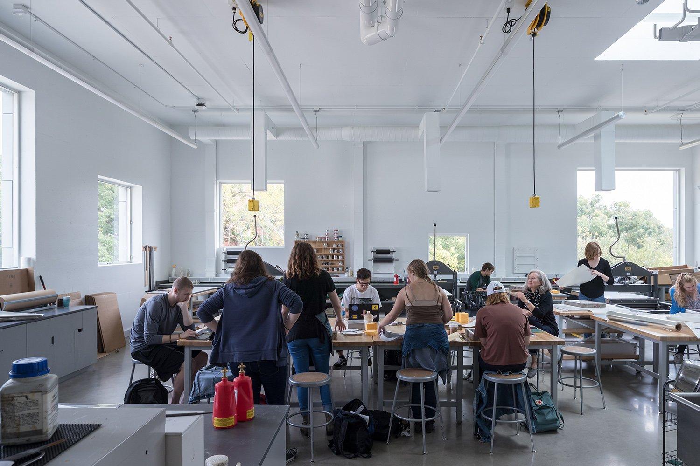 Interior view printmaking studio