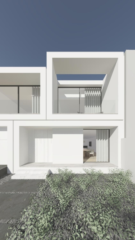 exterior view, main facade Raulino Silva Architect