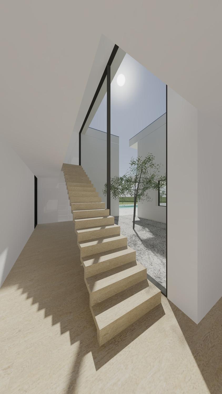 view of the stairs Raulino Silva Architect