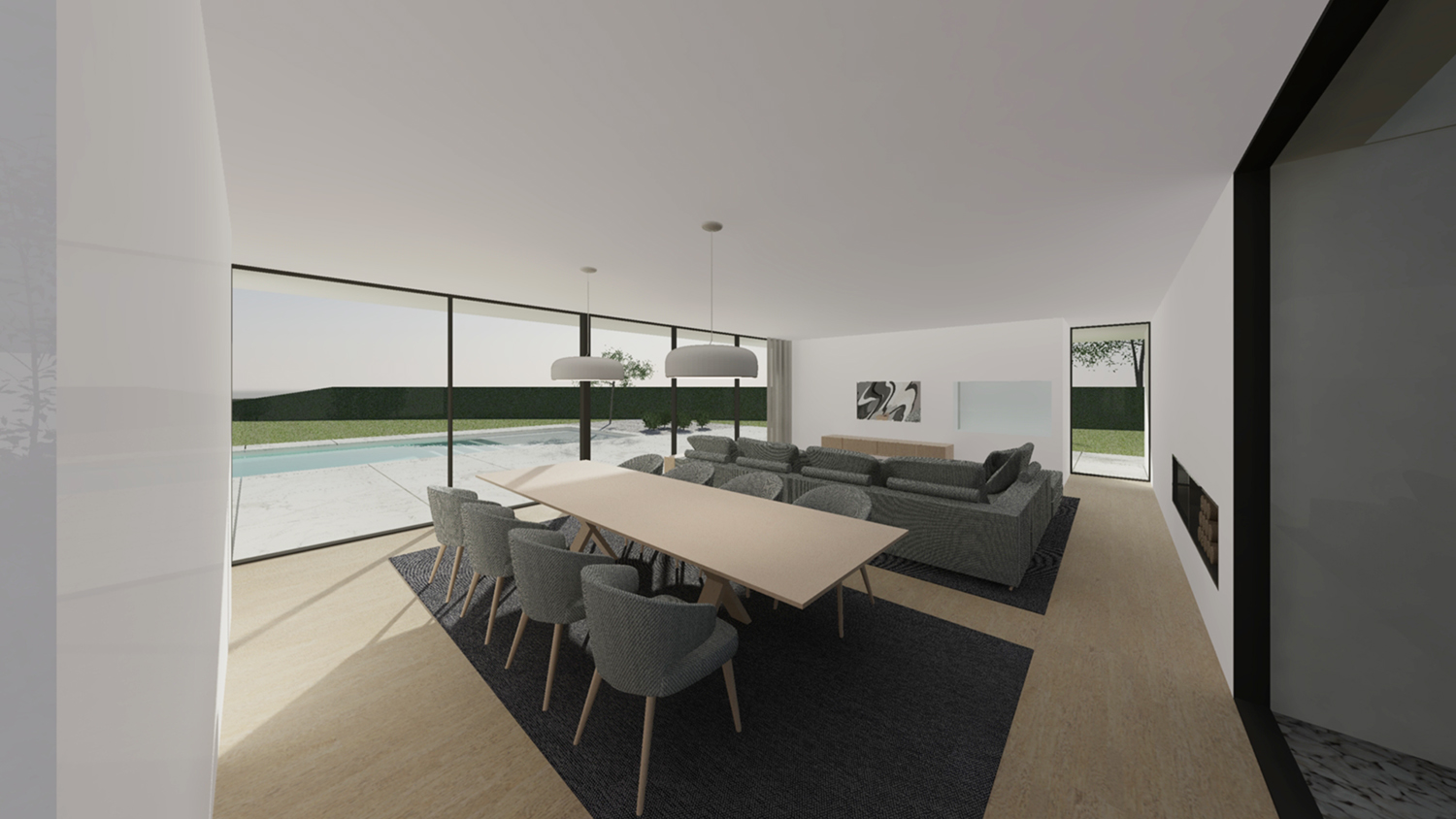 view from the living room Raulino Silva Architect