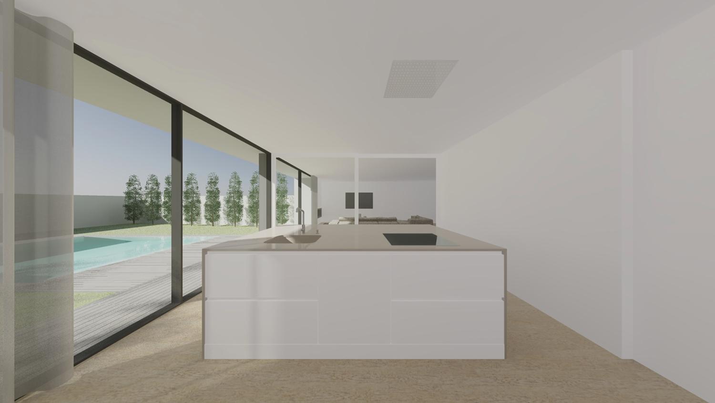 interior view, from the kitchen Raulino Silva Architect