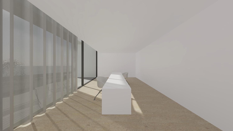 interior view of the office Raulino Silva Architect