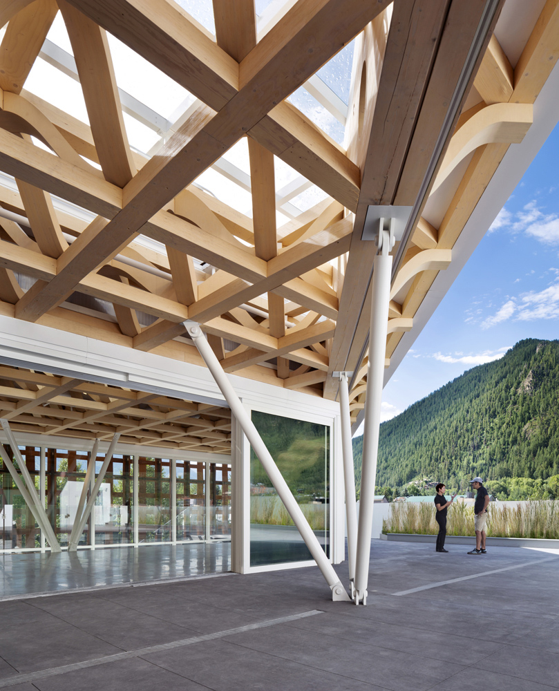 Timber Space-Frame Roof Structure