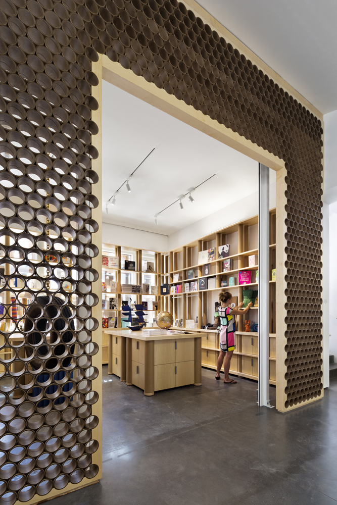 Shop, with Paper Tube Walls