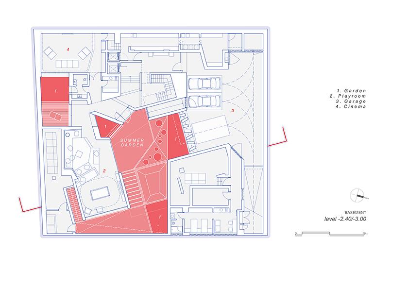 AGi architectes_Three Gardens__Basement floor_1.200_Summer Garden }
