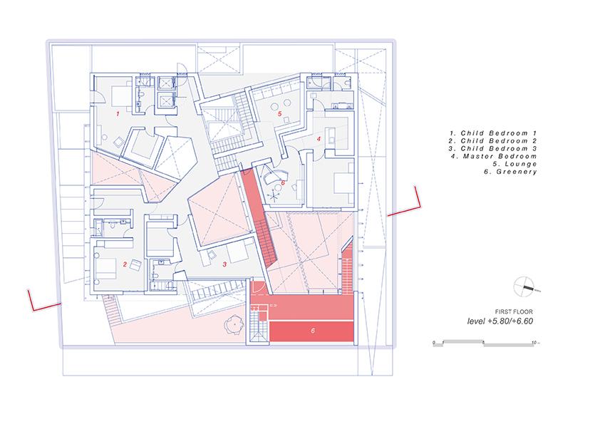 AGi architectes_Three Gardens__First floor_1.200 }