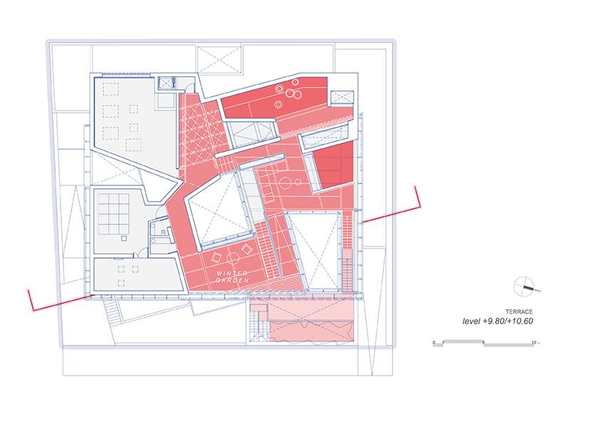 AGi architectes_Three Gardens__Second floor_1.200_Roof winter garden }