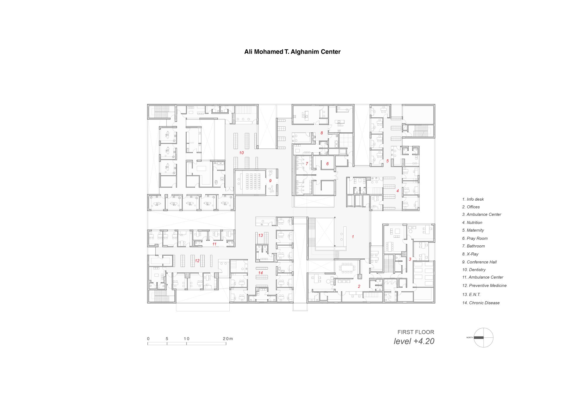 AGi architects - Mohamed T  Al Ghanim Clinic | The Plan