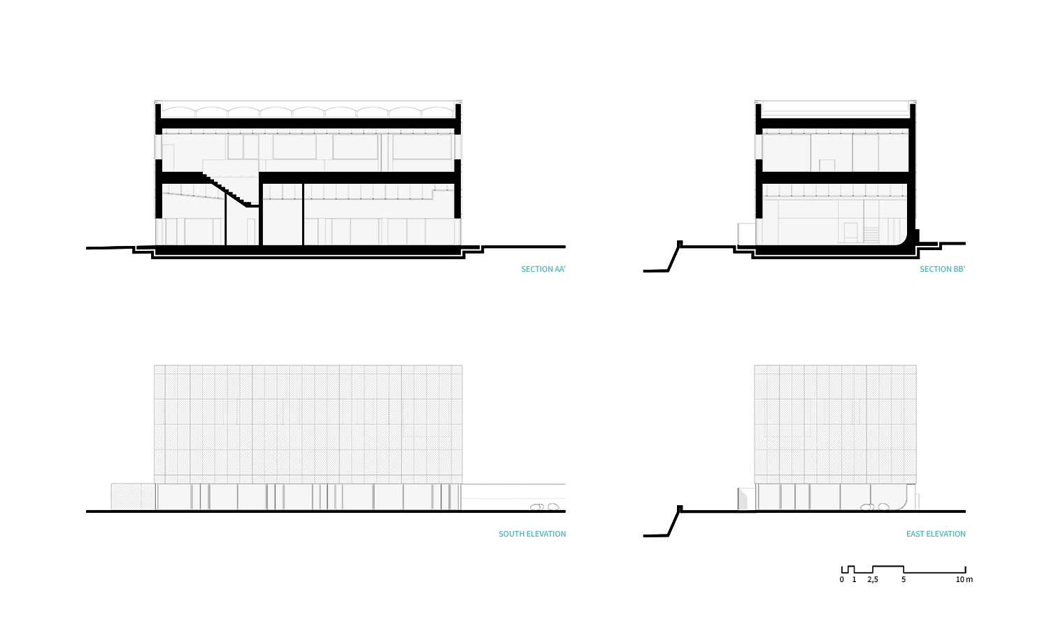Sections and Elevations LDA.iMdA architetti associati}