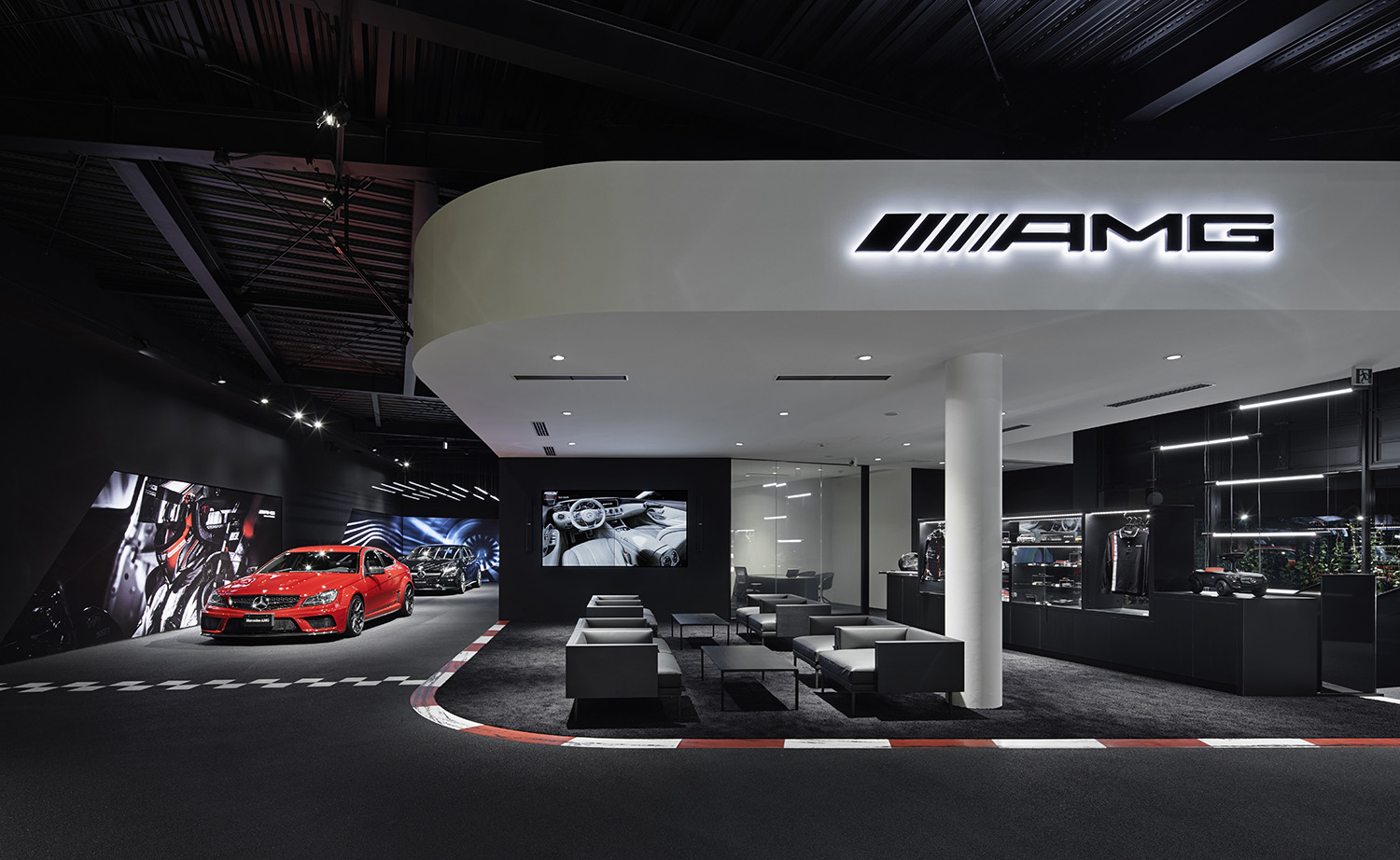 small areas  and lounges offering different possibilities for seller-client discussions Daimler AG