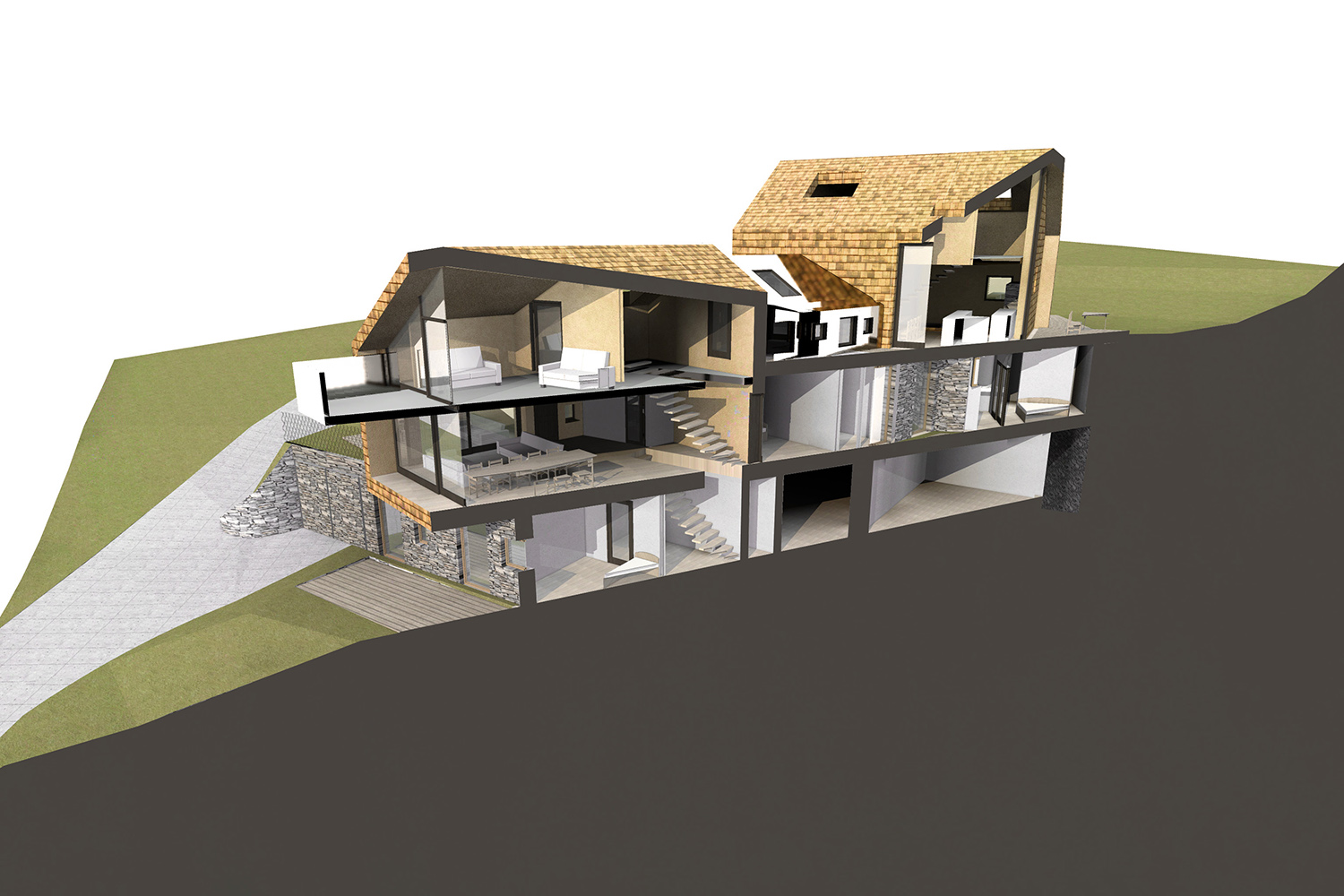 rendering - 3d section }