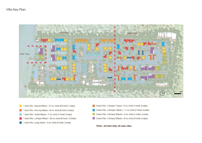 Villa Key Plan }