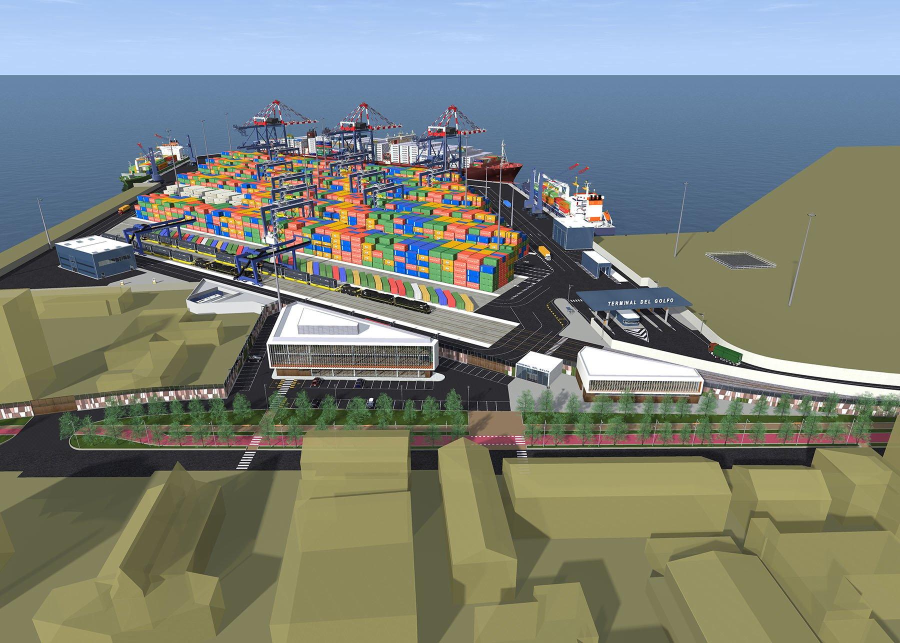 Il Terminal del Golfo visto visto dalla città