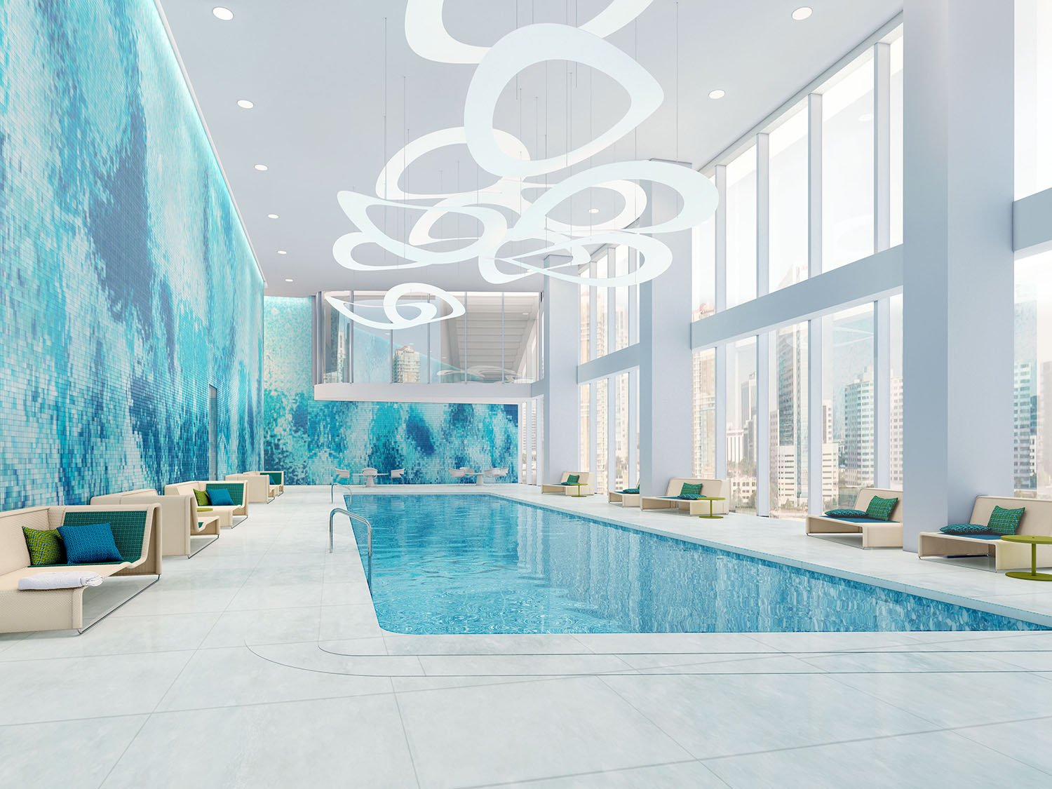 Indoor Pool that Maximizes Natural Light