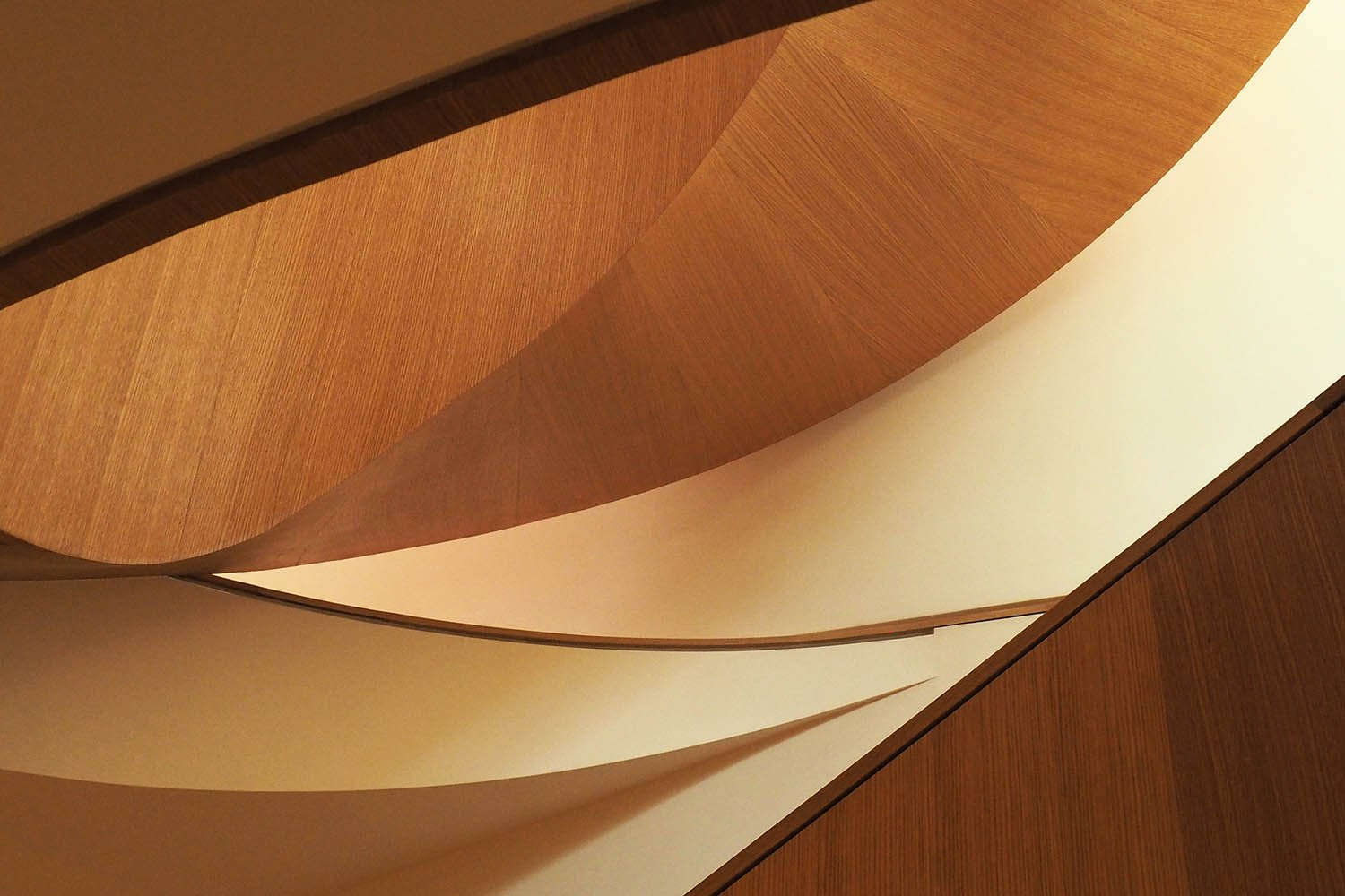 A detail view of material weaving at the stair. Ben Rahn/A-Frame Inc.