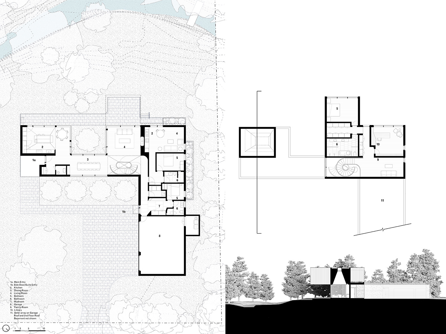 First and Second floor plans. Williamson Williamson Inc.}