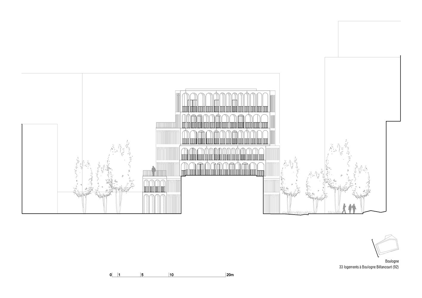 Arches Boulogne - Facade West }