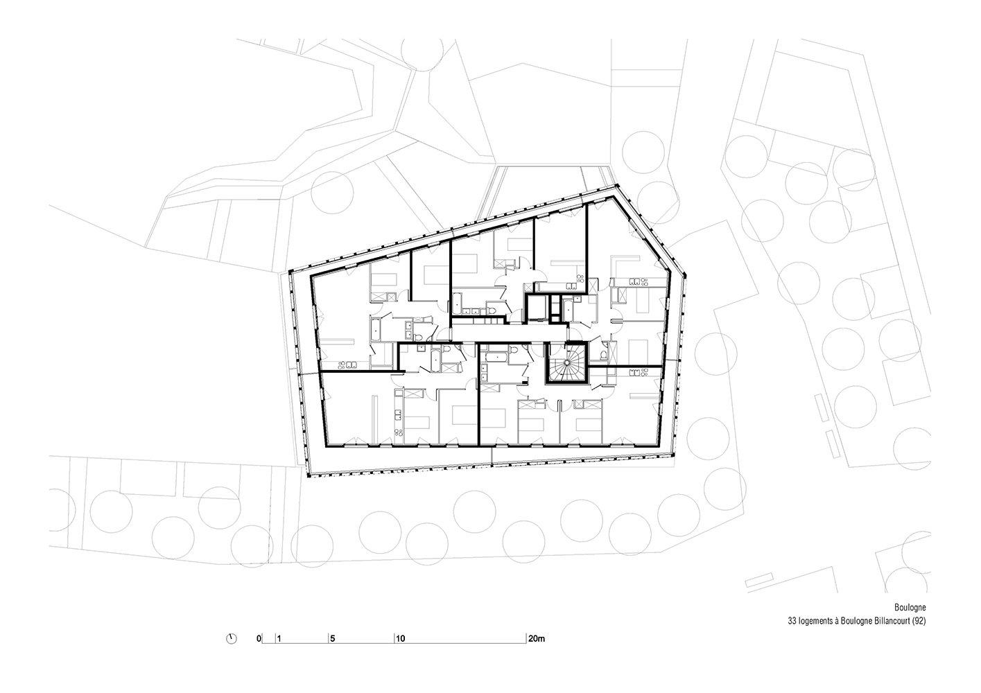 Arches Boulogne - Plan Nivel 4 }