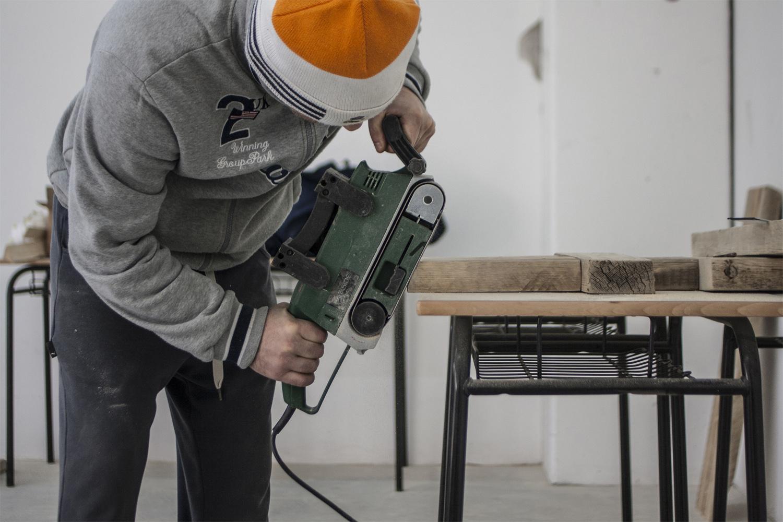 WIP _ laboratorio, lavorazione del legno Photo: Stefano Mont Y Girbes, VIVIAMOLAq