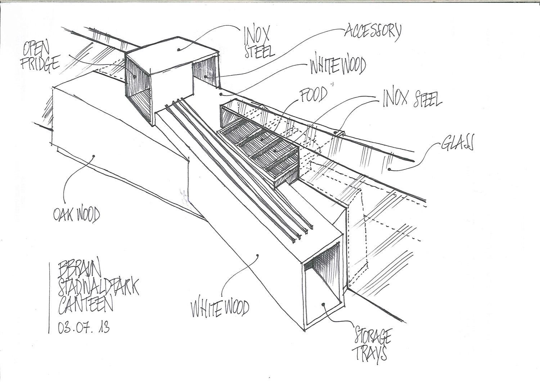 Sketch Canteen Desk Il Prisma }