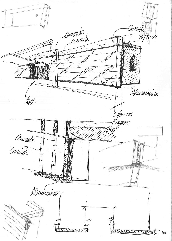 Sketch Main Entrance Il Prisma }