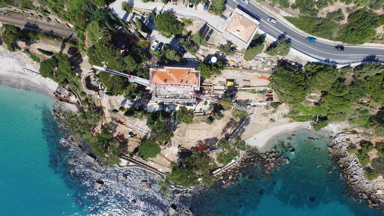 Vista del promontorio di Punta Murena dal drone BARRECA & LA VARRA