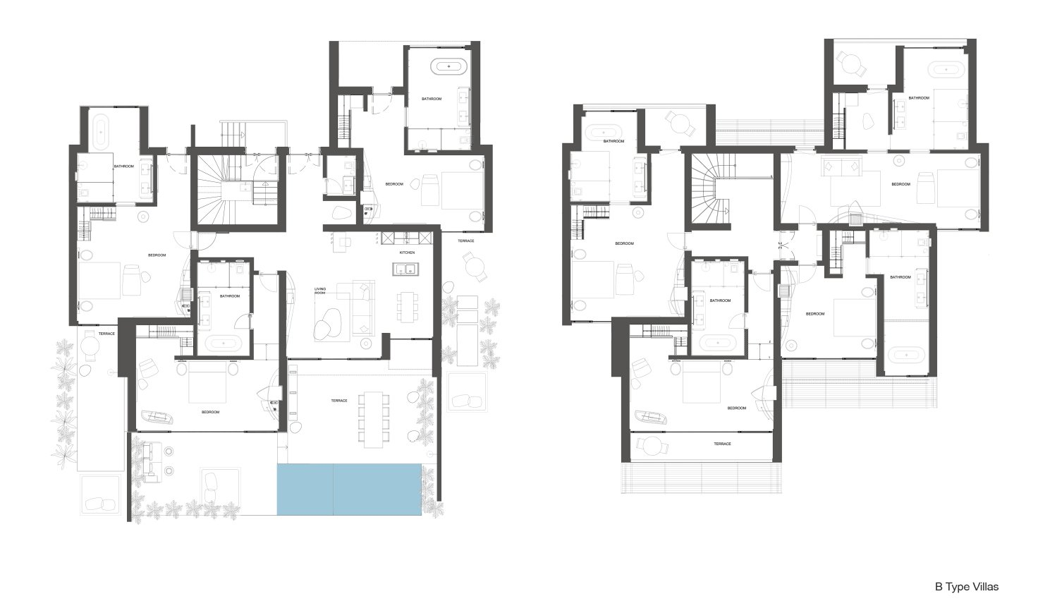 B type villas }