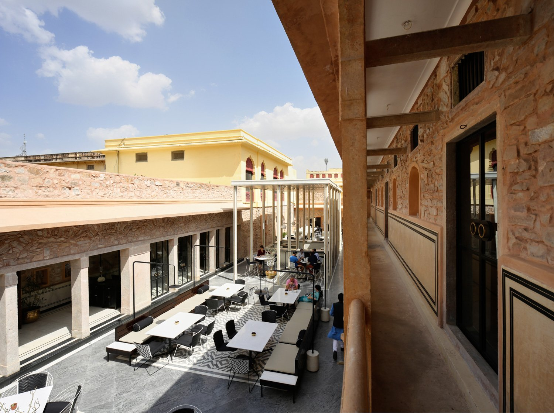 AFTER: The Baradari-inspired Pavilion insert in the Courtyard Edmund Sumner}